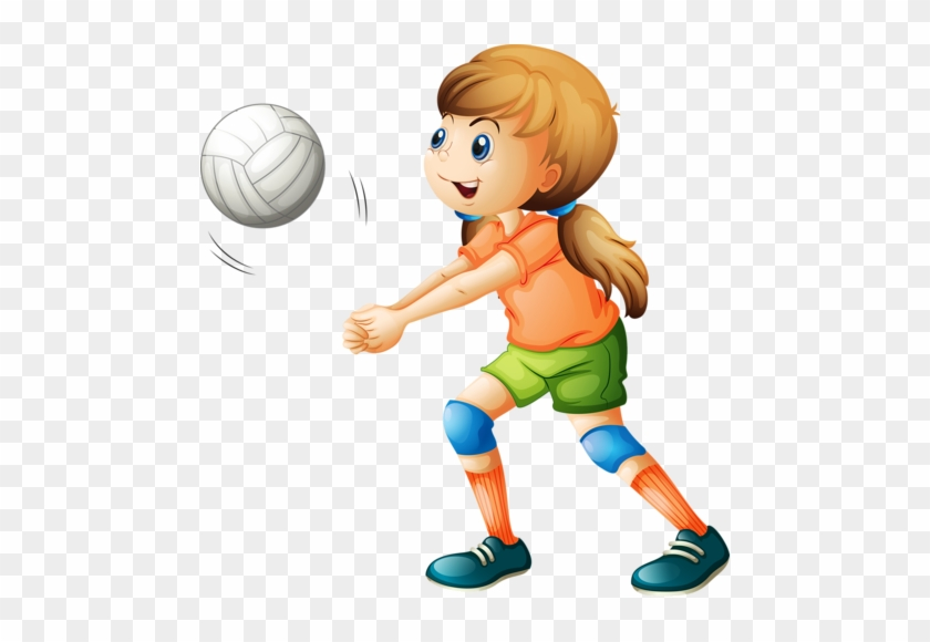 Personnages, Illustration, Individu, Personne, Gens - Girl Playing Volleyball Clipart #289364