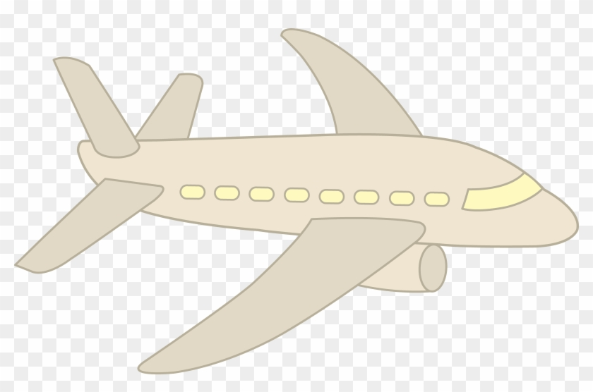 Clipart White Airplane Simple Free Clip - Clipart White Airplane Simple Free Clip #289385