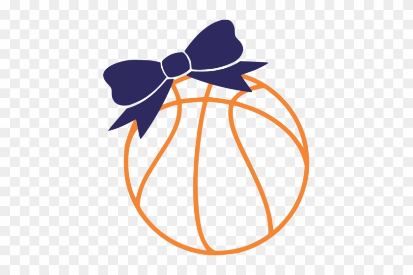 Basketball With Bow - Basketball Heart With A Bow #289389