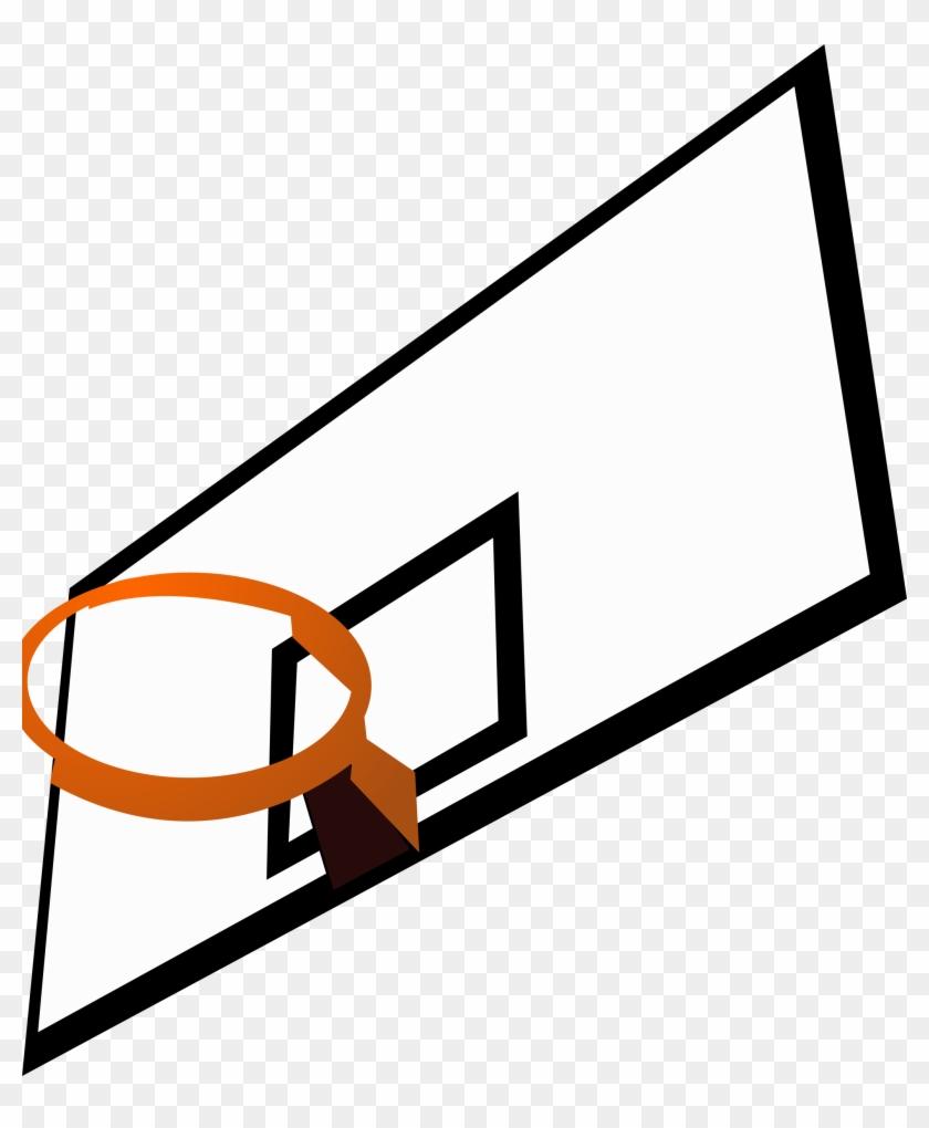 Big Image - Basketball Hoop Clip Art #289412