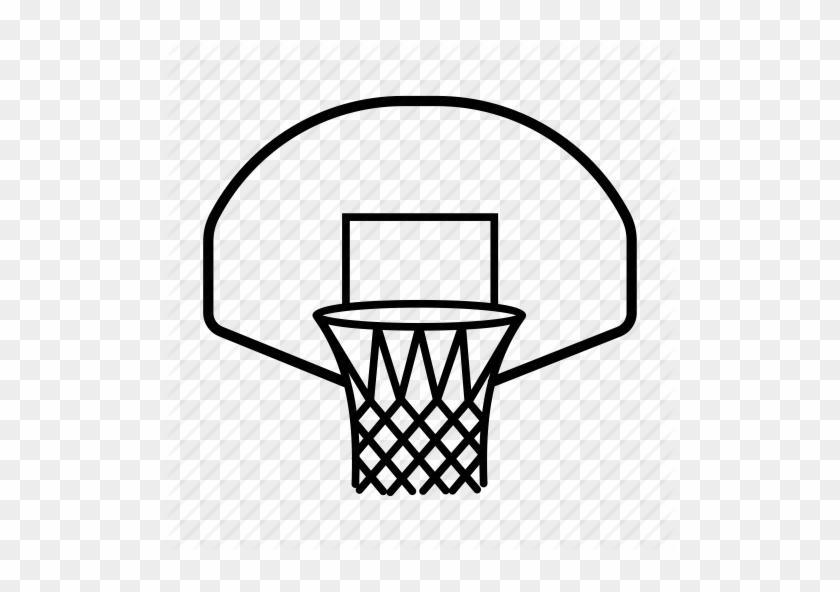 Adorable Transparent Basketball Hoop With Original - Black Basketball Hoop Png #289419