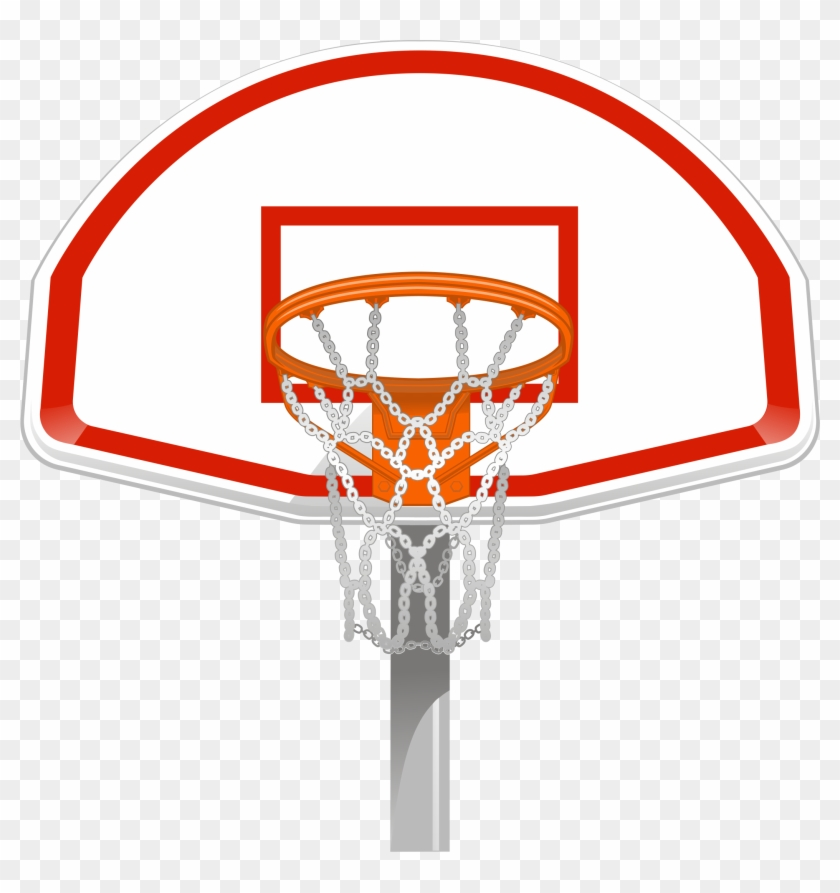 Wall Art Basketball Goal Front View Wall Decals Removable - Front View Basketball Goal #289424