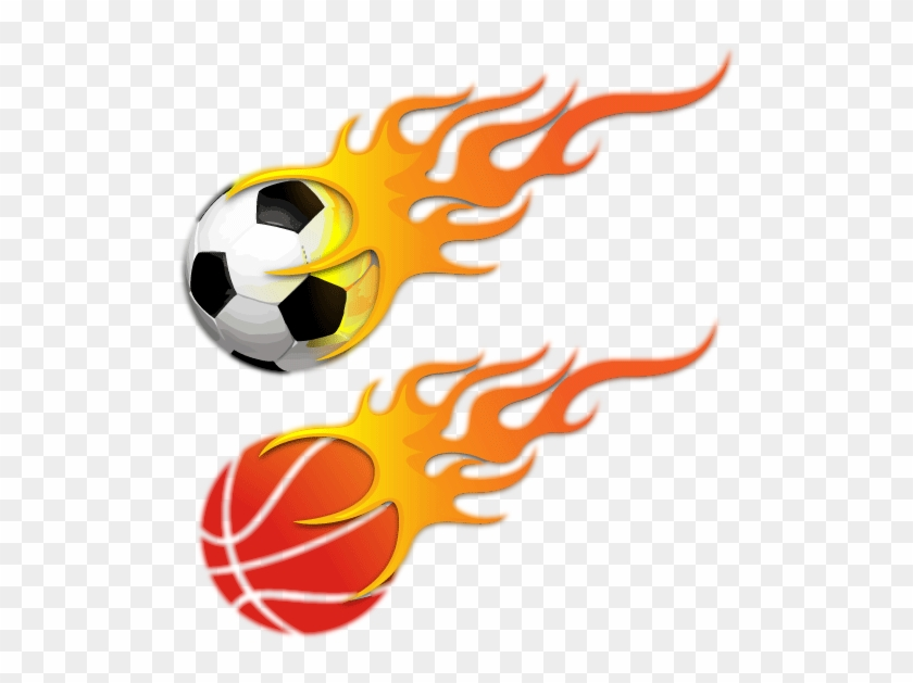 Basketball Clipart Png Orange - Ball With Fire Png #289433