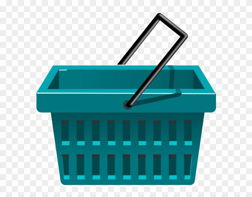 Blue Basket Png Clip Arts - Shopping Basket Clipart #289457