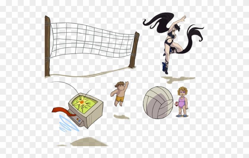 Volleyball - Curly Brace Sticker Steam #289500