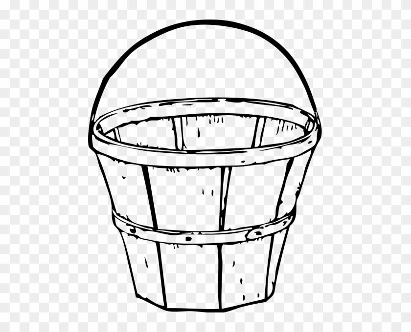 2 Quart Basket Png Clip Arts - Black And White Basket #289511