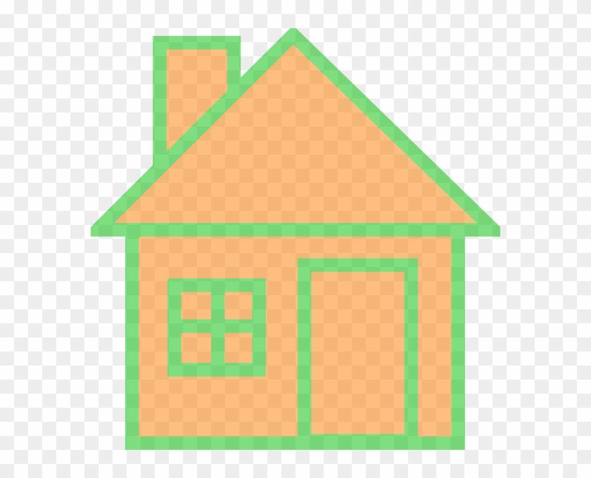 Orange House Clip Art - Hull House Clipart #289518