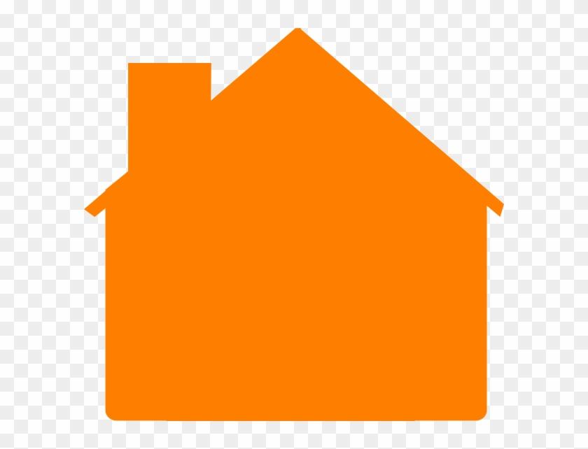 Orange House Clip Art #289526
