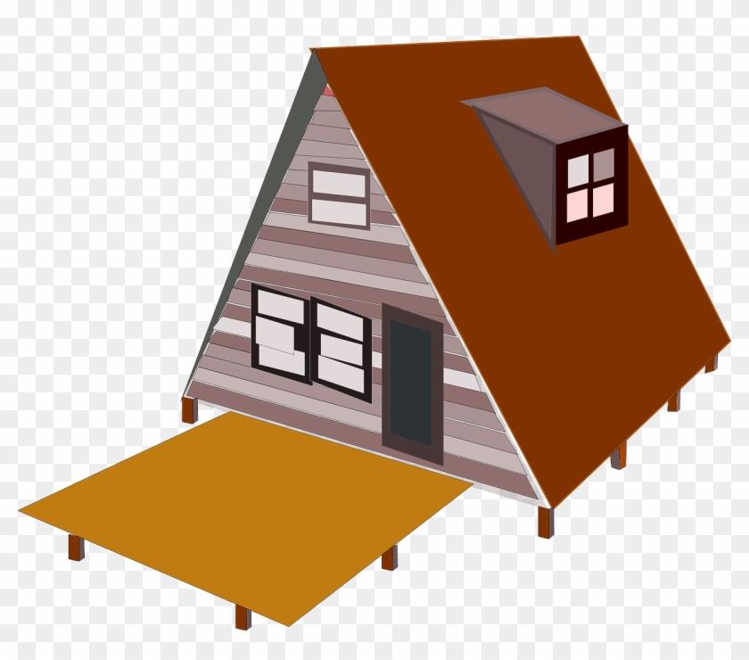 A Frame House Clip Art At Clker - Frame House Clipart #289527