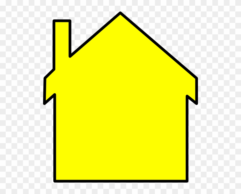 Yellow House Outline Clipart - Clip Art #289529
