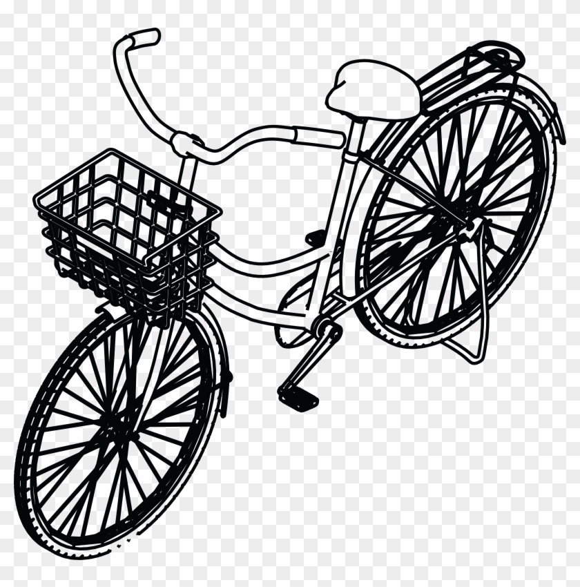 - Eps, - Svg, - Free Clipart Of A Bicycle With A Basket - Bicycle #289540