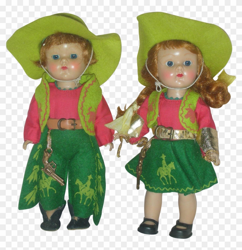 Here Is A Pair Of Vintage 1950s Vogue Ginny Cowgirl - Doll #289542