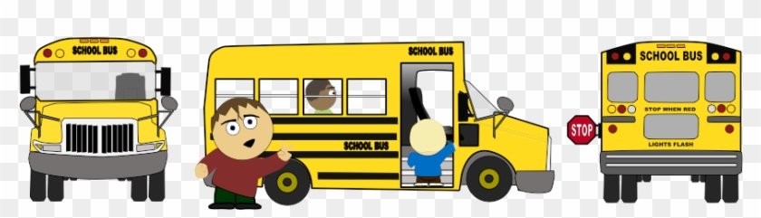 Free Animated School Bus Clip Art - Cartoon School Bus #289543