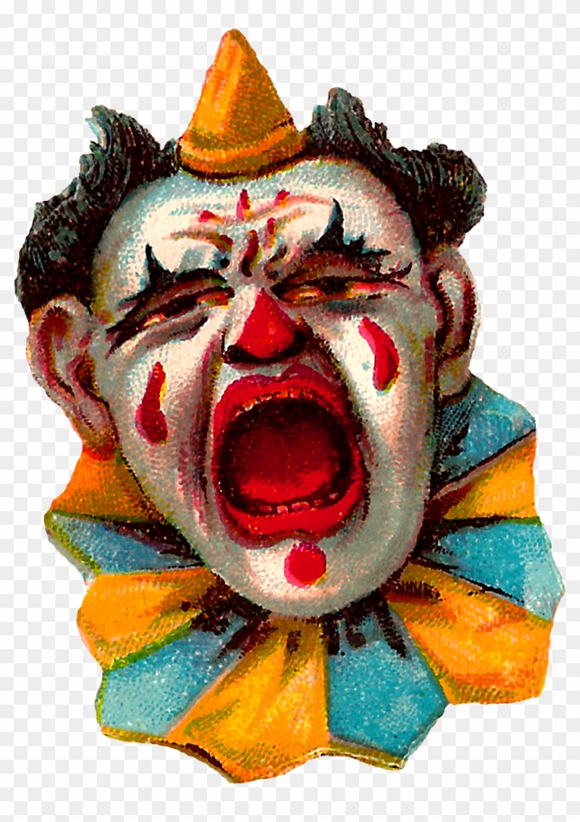 Vintage Clip Art Funny Circus Clowns Costume Images - Clown Circus Vintage #289549
