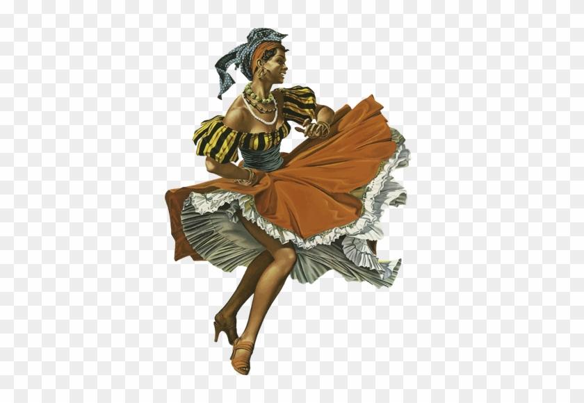 Vintage Caribbean Dancing Woman - Woman Png Vintage #289557