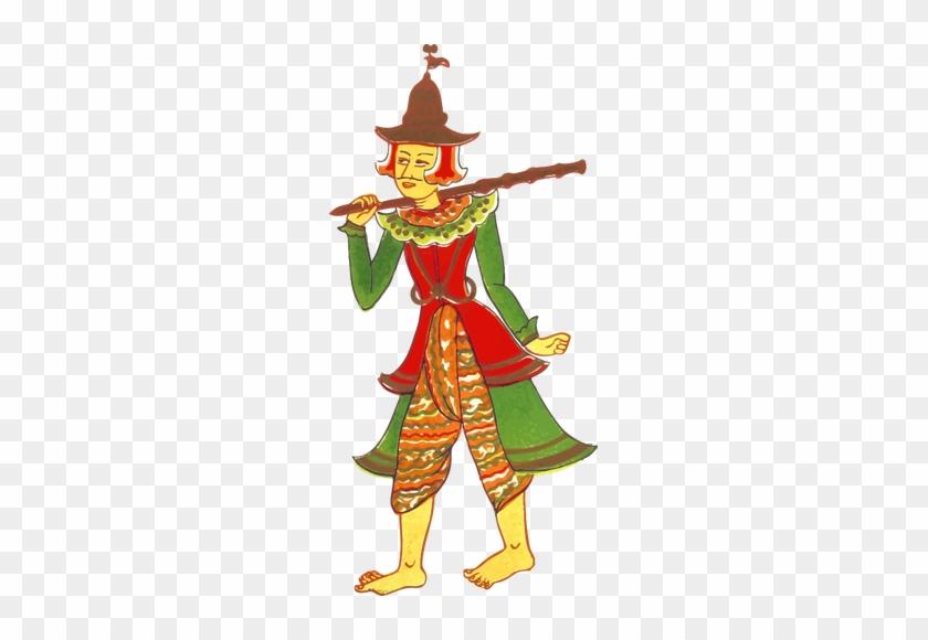 Vintage Myanmar Character Image - Myanmar Cartoon Character #289576