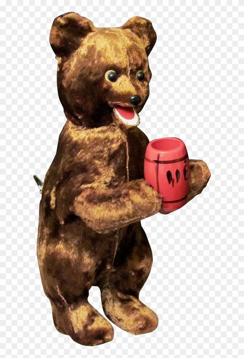 Vintage Wind Up - Vintage Bear Png #289580