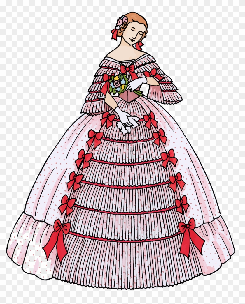 Vintage Woman's Ball Gown 2 - Dress #289596