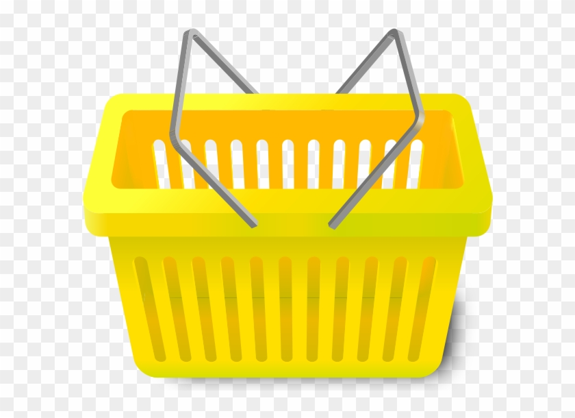 Shopping Cart Yellow - Vector Shopping Basket Png #289590