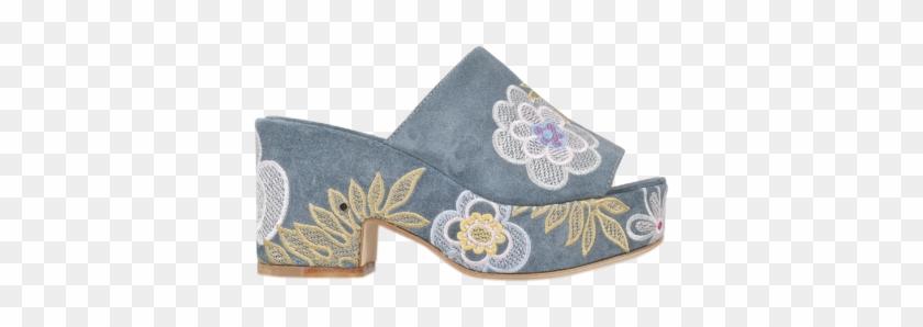 Laurence Dacade Noa Embroidered Slide Blue Women,colorful - Laurence Dacade Noa Embroidered Slide #289680