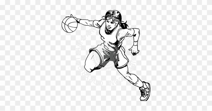Girl Basketball Player Drawing #289683