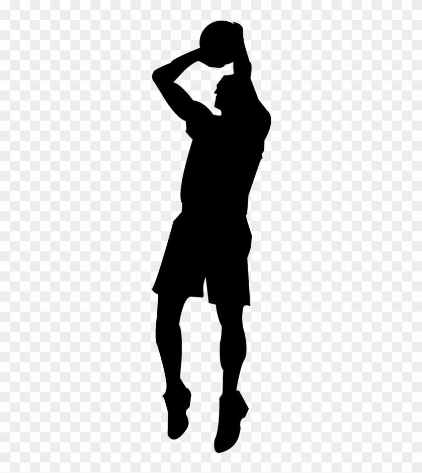Wall Color - Wall Sticker Basketball Player Silhouette #289744