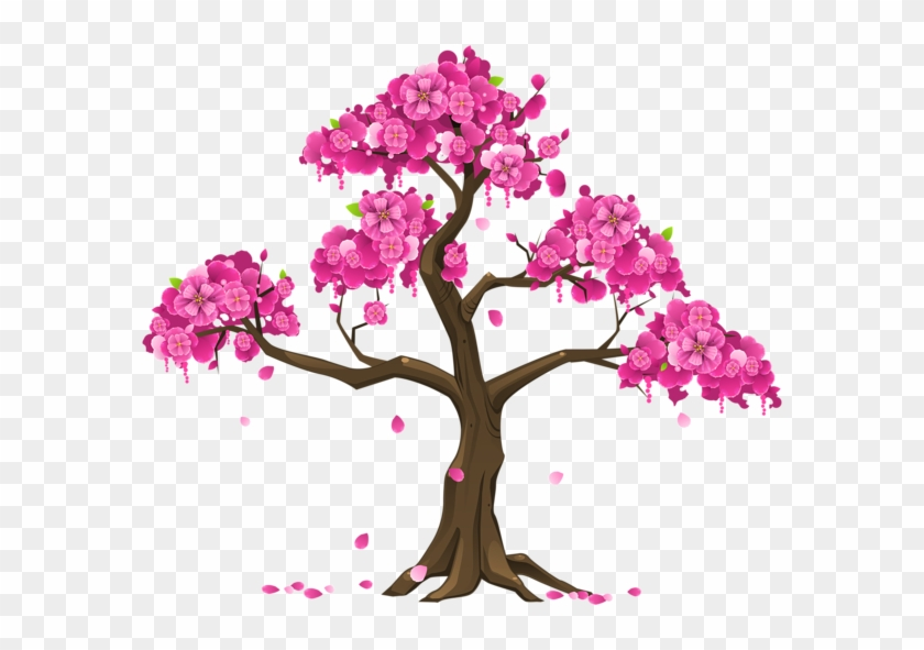 Pink Trees, Flower Backgrounds, Clipart Images, Oriental, - Japanise Women Are Slim #289753