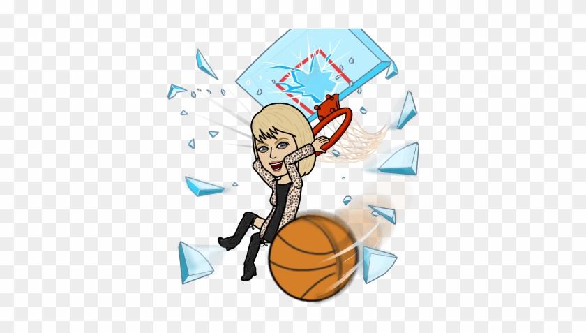 I've Made My Picks - Bitmoji Of Guy Playing Basketball #289791
