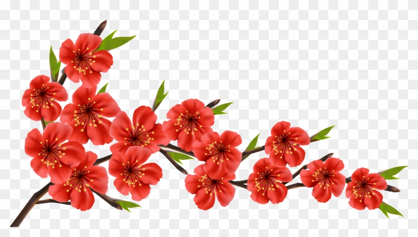 Red Flower Clipart Red Blossom - Best Of Luck Quotes #289811