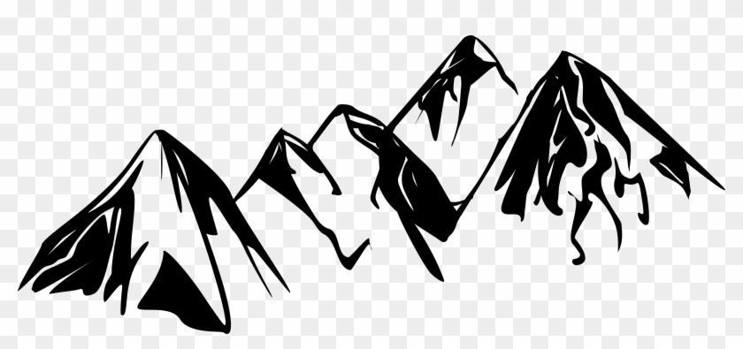 Mountain Desktop Wallpaper Black And White Clip Art - Mountains Clipart Black And White #289816