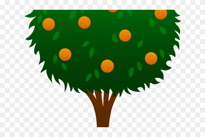 Cartoon Orange Tree - Lemon Tree Clipart #289828