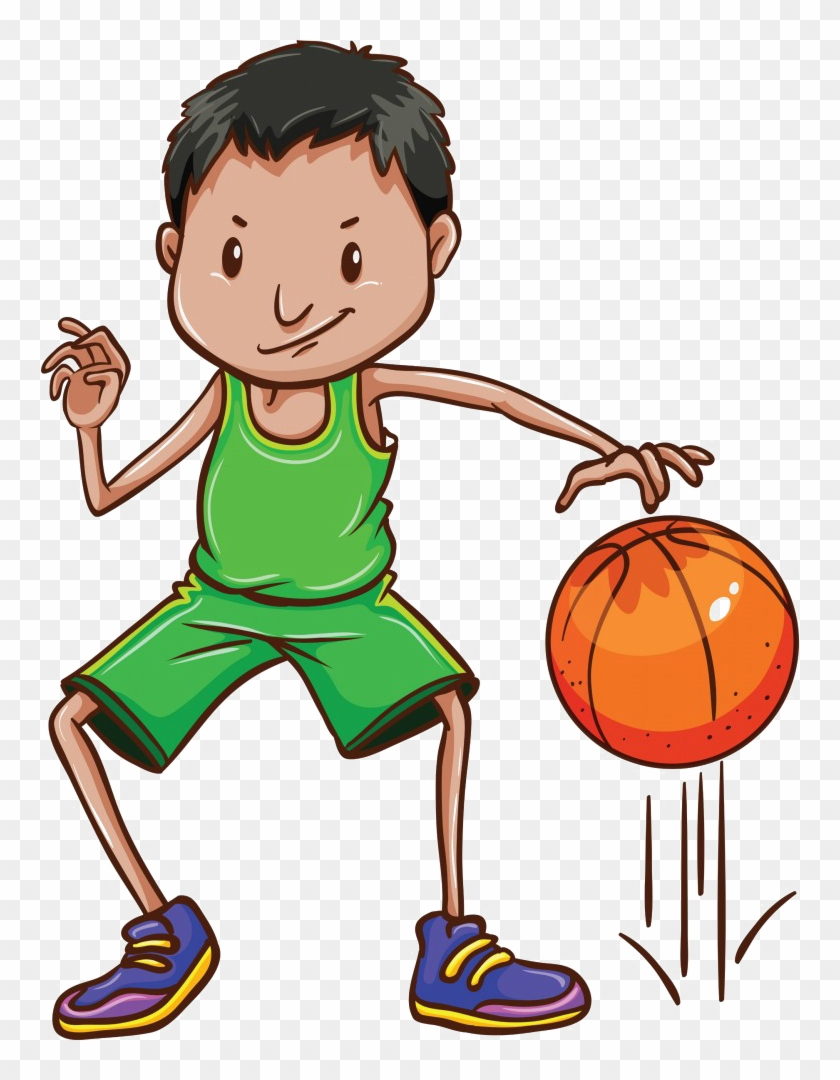 This Basketball Program Is For 1st & 2nd Graders - Bounce A Ball Clipart #289837