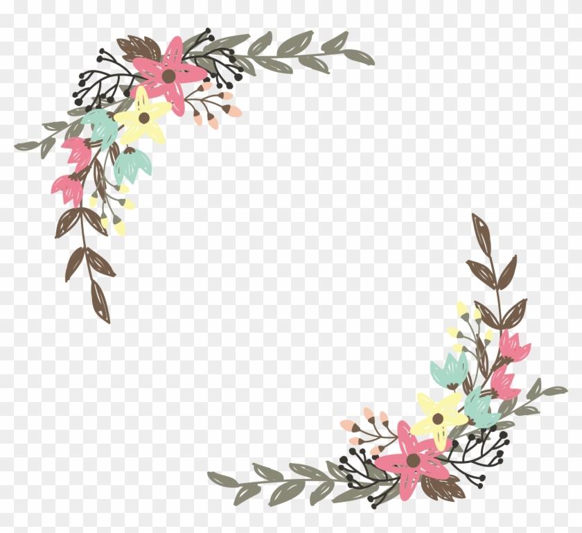 Border Flowers Wildflower Clip Art - Flower Border Vector Png #289854
