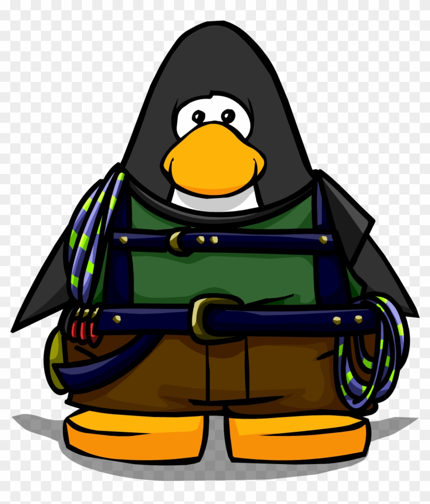 Mountain Climber Gear On Player Card - Club Penguin Penguin Band Hoodie #289867