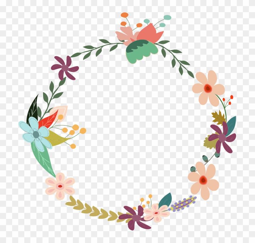 Vintag Flower Border - Vector Floral Vintage Png #289879