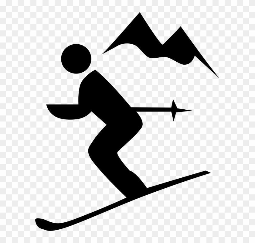 Downhill Ski Clip Art #289878