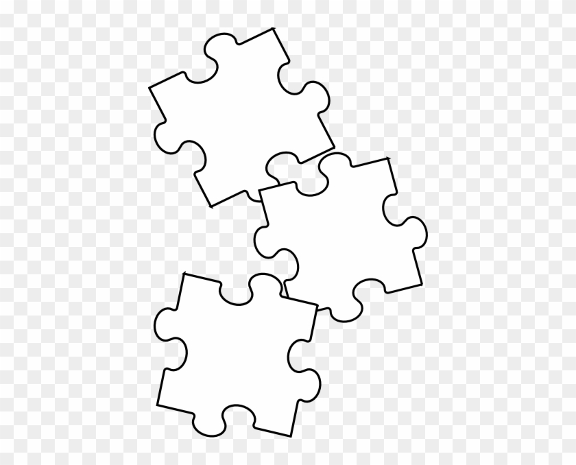 Black White Puzzle Piece Clip Art At Clker - Jigsaw Puzzle Black And White #289900