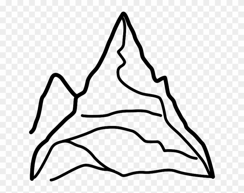 Summit Mountain, Matterhorn, Alps, Skiing, Summit - Mount Everest Easy Drawing #289960