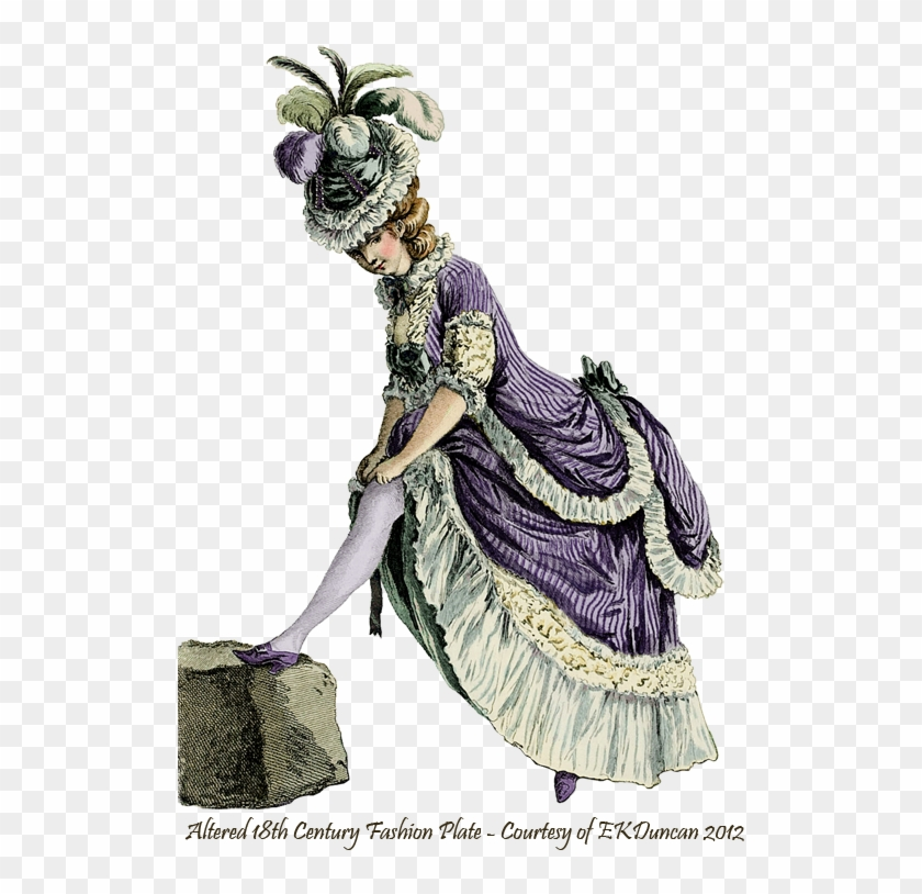 Ekd - Purple Version - Giclee Painting: Le Clerc's Lady Pulling Up Her Stocking, #289981