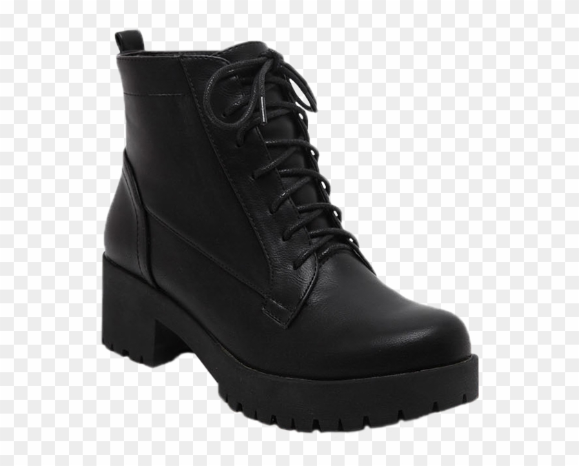 Store Zaful Women Black Shoes Lace-up Chunky Heel Short - Timberland Pro Traditional Safety Boots #289985