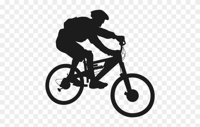 Cycling - Mountain Bike Silhouette Png #289998