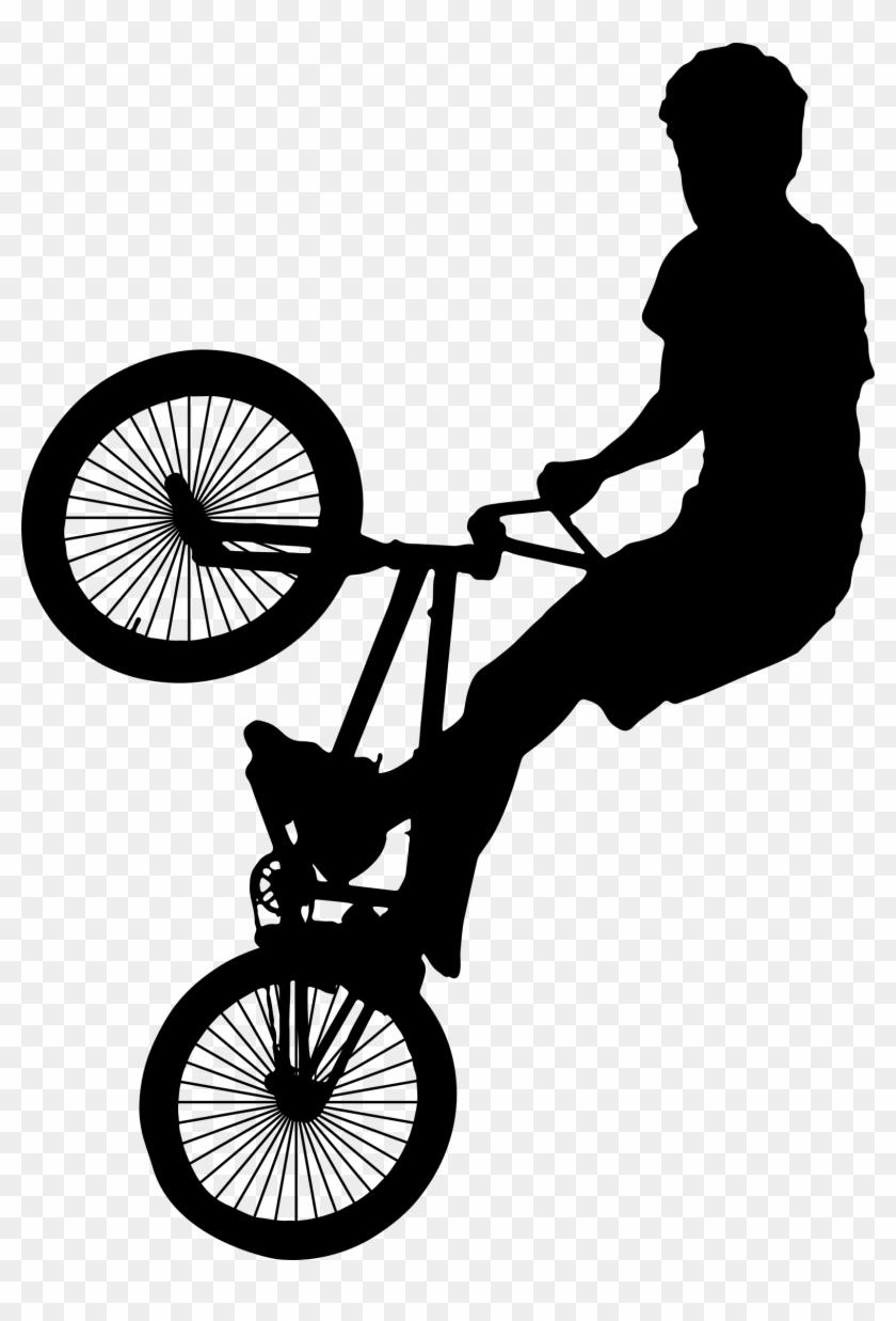 Bmx Bike Silhouette Bicycle Clip Art - Bmx Bike Silhouette Bicycle Clip Art #290053