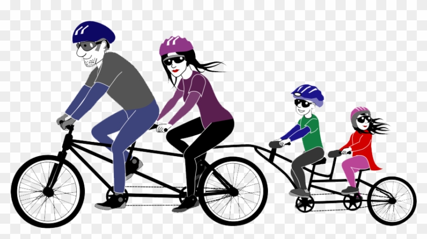 Cycling Png Picture - Clip Art Tandem Bicycle #290084