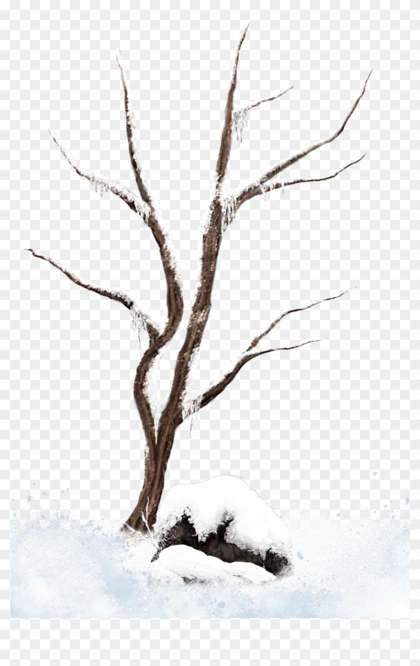 Winter Tree Branches Clip Art Clipart Free Download - Snow #290101