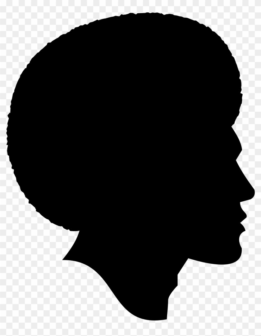 Clipart - African American Male Silhouette #290166