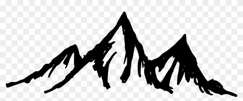 Mountain Silhouette Transparent - Mountains Png Black And White #290167