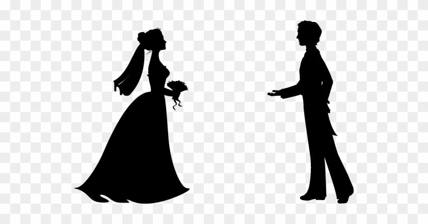 Bride Clipart - Groom Silhouette #290183