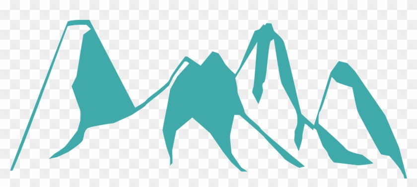 Beautiful Mountain Drawing Silhouette - Mountain Vector Free Download #290189