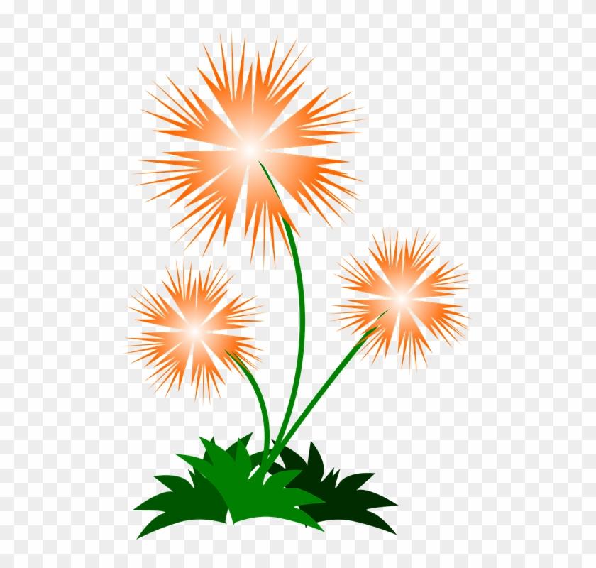 Wild Flowers - Orange Flowers Shower Curtain #290199