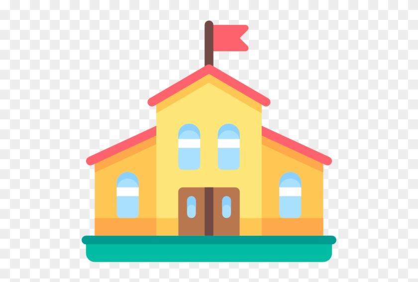 Kindergarten, College, High School, School, Buildings - School Icon Transparent Background #290206
